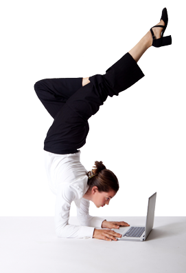 image of acrobat on a computer